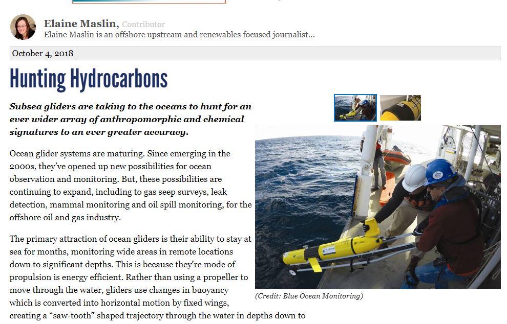 В поисках углеводородов, статья Marine Technology News