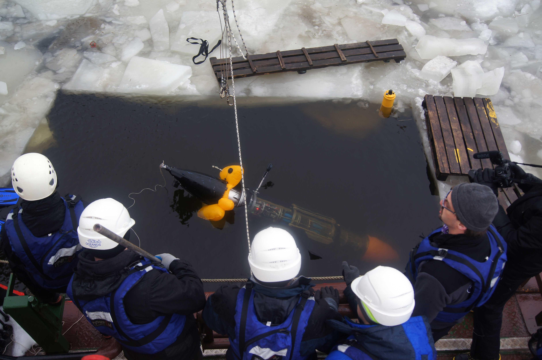 Всплытие подводного глайдера со сработавшей аварийной системой