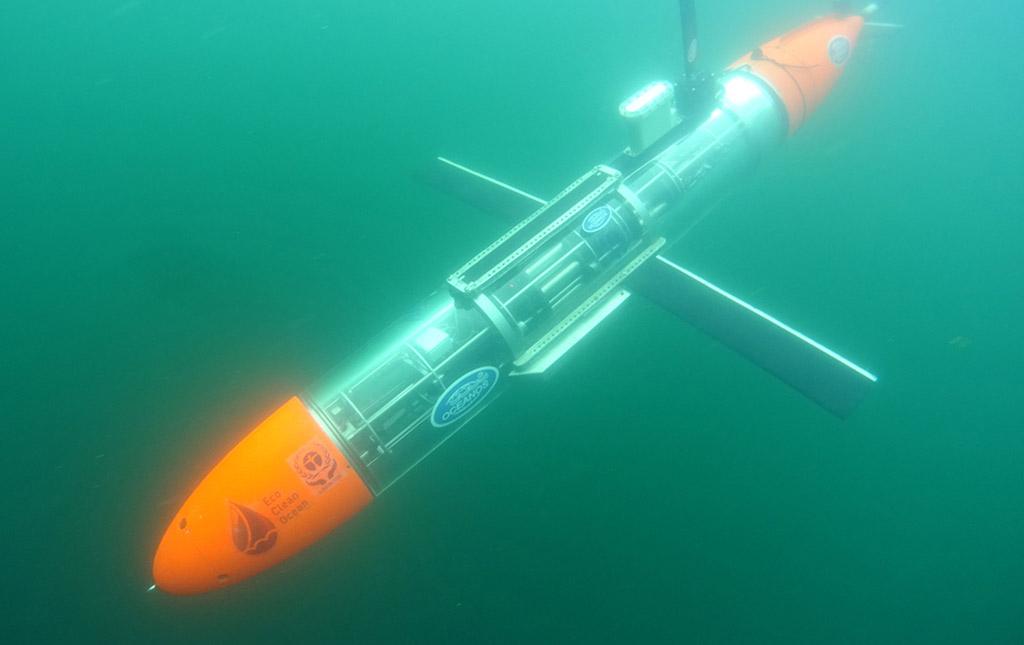 Подводный глайдер Океанос участвует в проекте EcoClean Ocean
