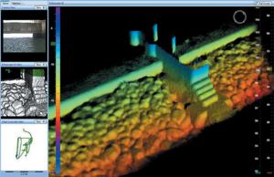 изображение с 3D многолучевого гидролокатора