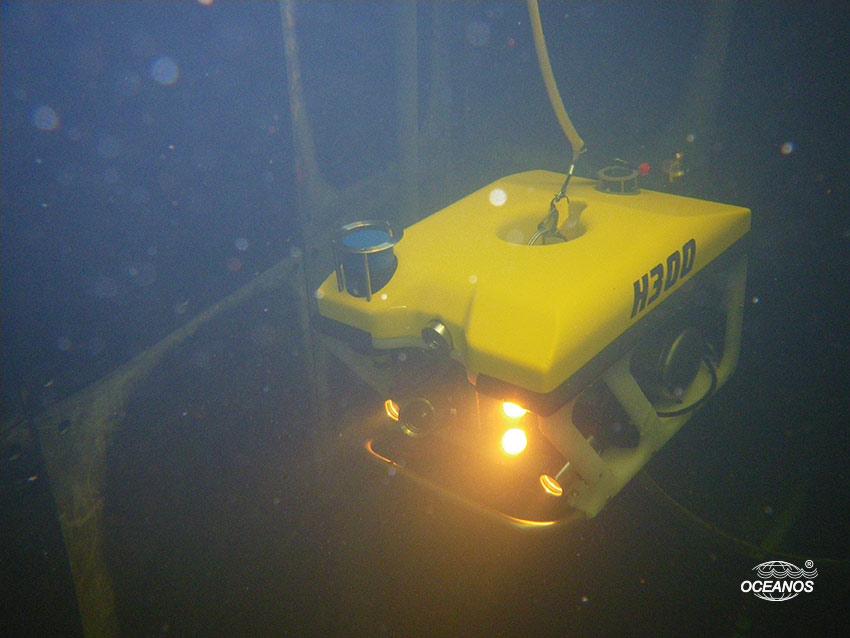Подводная инспекция платформы с помощью ТНПА H300