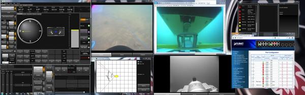 Через мониторы оператор АНПА Sabertooth контролирует выполнение миссии